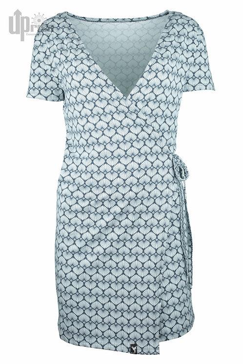 Kleid VOLVER DRESS BLUE aus Hanf und Bio-Baumwolle