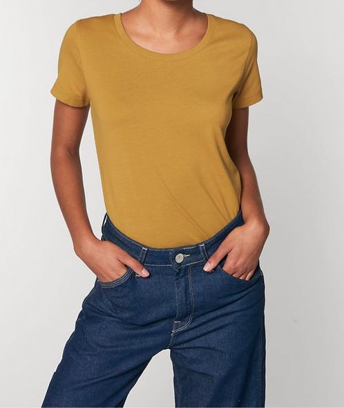 T-Shirt Damen - Ochre aus reiner Bio-Baumwolle