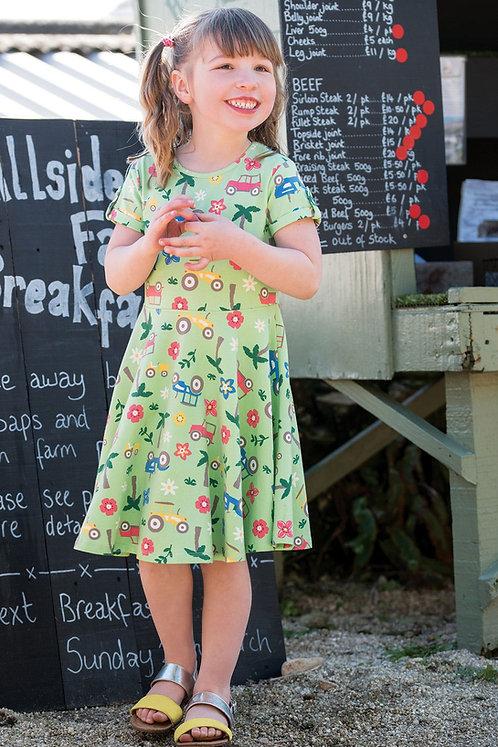 Kleid SPRING SKATER DRESS TRACTOR aus Bio-Baumwollmix