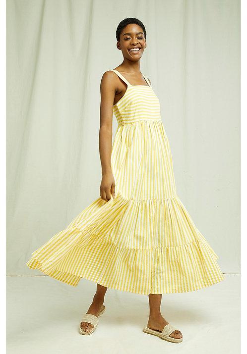 Kleid LEA STRIPED aus reiner Bio-Baumwolle