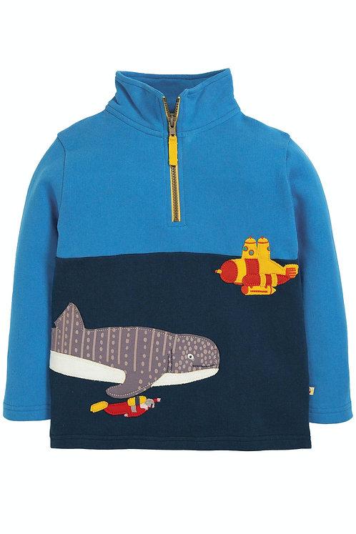 Sweater HALF ZIP SHARK aus reiner Bio-Baumwolle