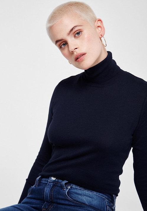 Pullover CELESTE NAVY aus reiner Bio-Baumwolle