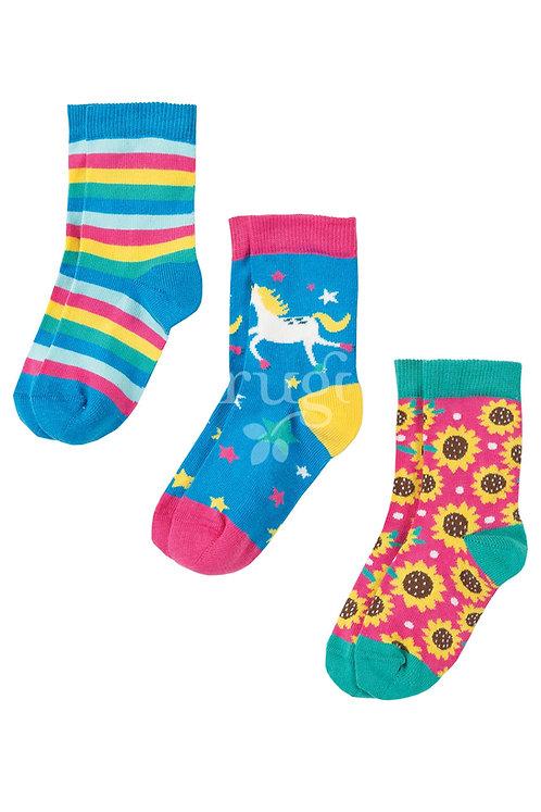 Socken 3er-Pack SUSIE UNICORN aus Bio-Baumwollmix