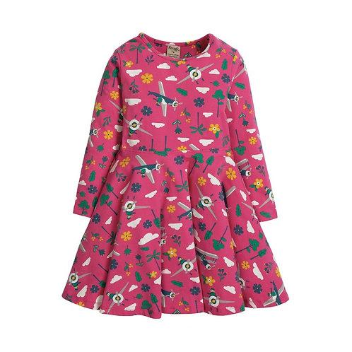 Kleid SOFIA SKATER DRESS PLANES aus Bio-Baumwollmix