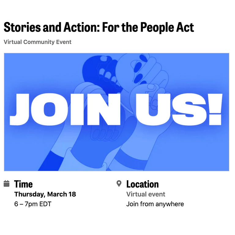 Stories and Action: For the People Act