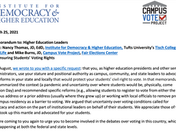 Ensuring Student Voting Rights: Recommendations to Higher Ed Leaders (Part II)