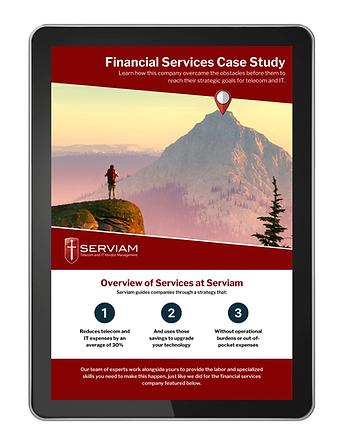 Financial Services on Tablet Image Servi