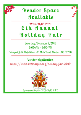 Vendors Wanted - WES-MAC PTO Holiday Fai
