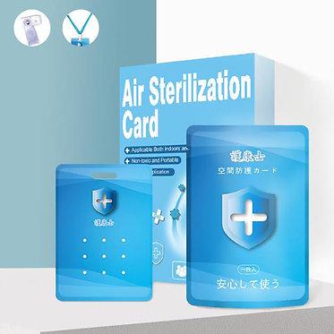 12 Piezas de Tarjeta de esterilización repelente de virus.
