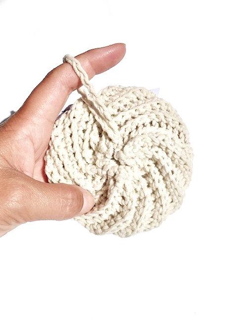 Tawashi coton éponge écologique