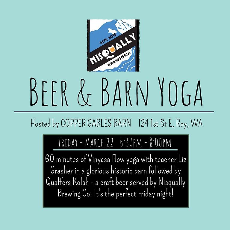 Beer & Barn Yoga