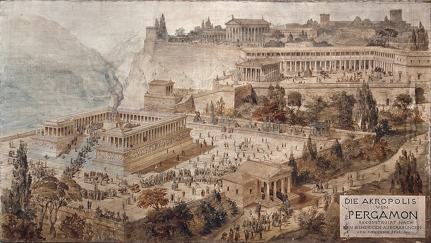 Acropolis_of_Pergamon_-_Friedrich_Thierc