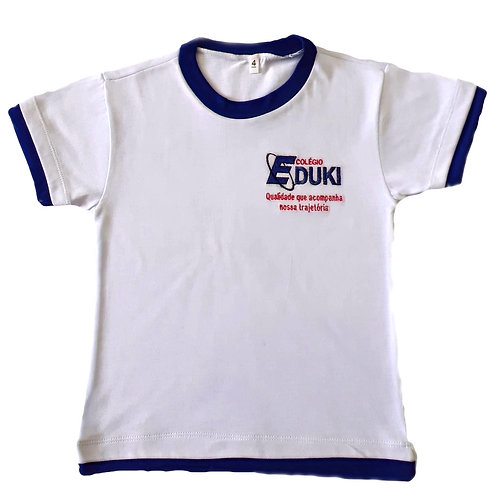 Camiseta Manga Curta Branca Eduki