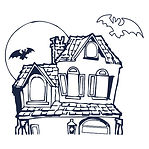 spooky haunted house for the indoor House Within and murder myster nghts