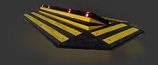 bloqueur de route sans génie civil, levée à 35 cm, baissé 12 cm.