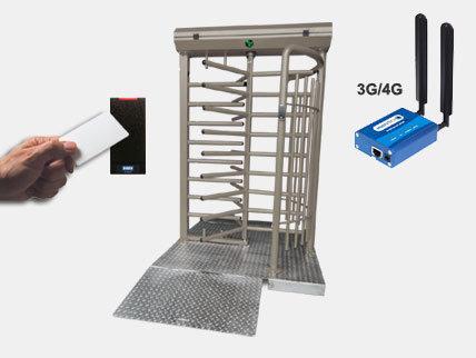 BLOKACCES XL 300 2LM : 2 lecteurs de badges et modem 3G/4G.