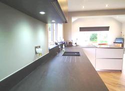 black quartz kitchen worktop in London  (2)