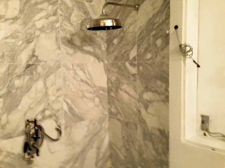 Calacata Oro marble bathroom vanity in London (7)