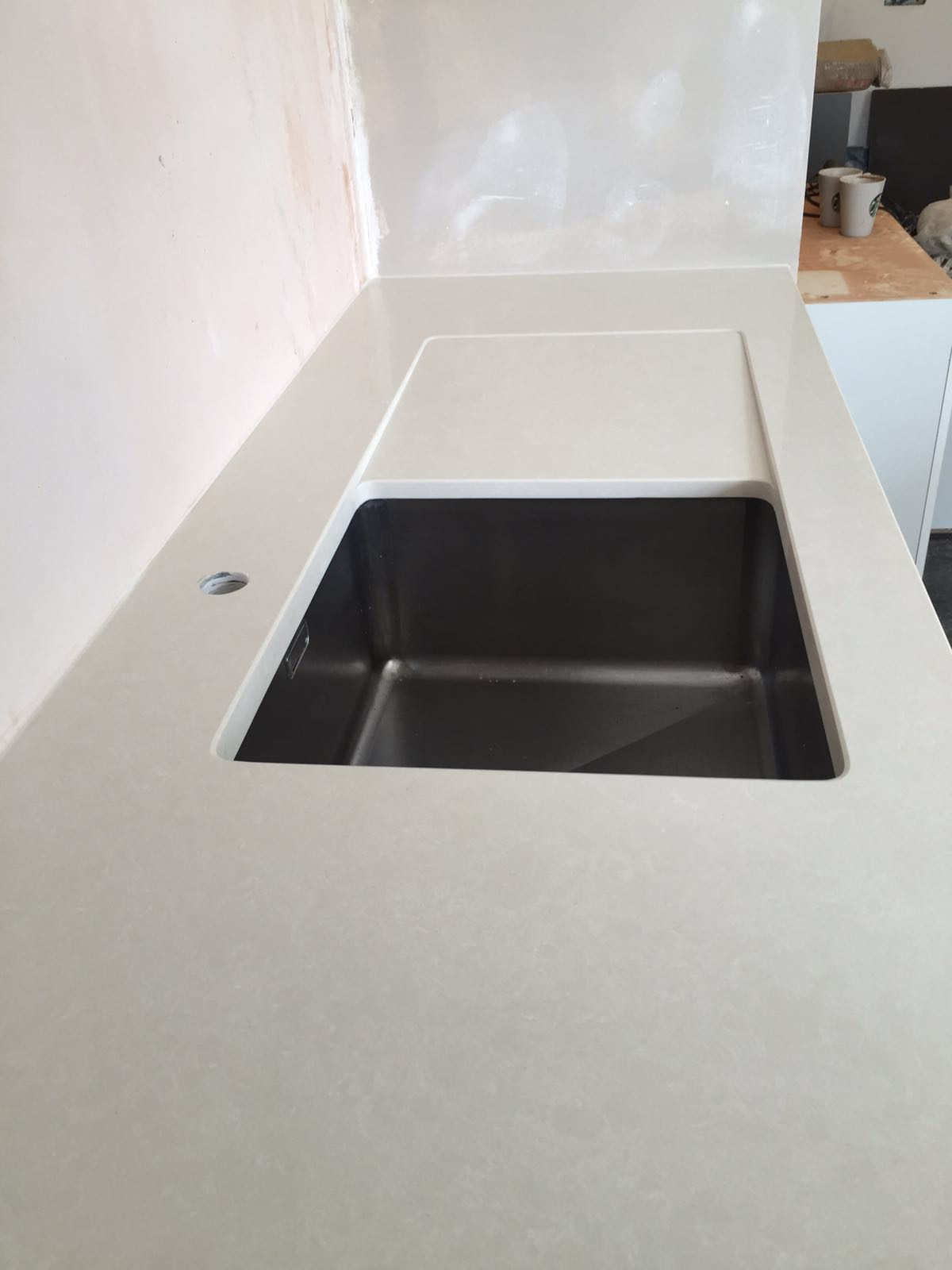 recessed sink drainage