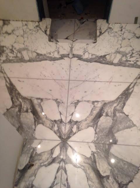 Arabescato mabrle cladding in bathroom London (6)