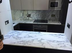 Arabescato marble kitchen worktop in London  (4)