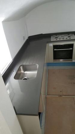 Dark Grey Quartz kitchen top (4)