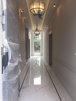 Statuario mable bookmatch flooring in London  (2)