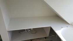 White quartz bathroom panels and vanities  (8)