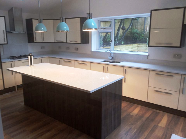 contemporary quartz kitchen worktop in London (2)