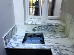 Arabescato marble kitchen worktop in London  (6)