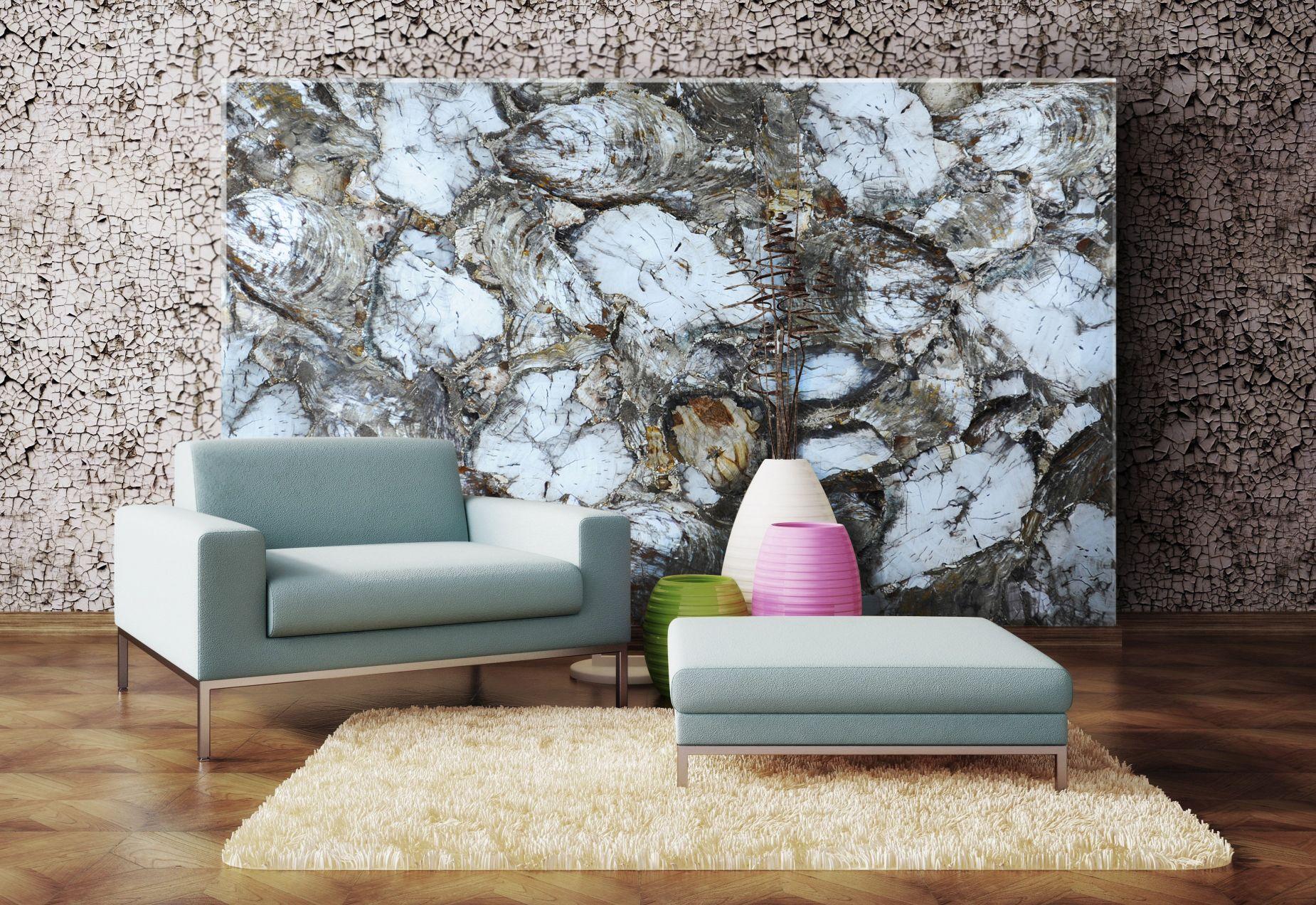 petrified wood white decorative wall