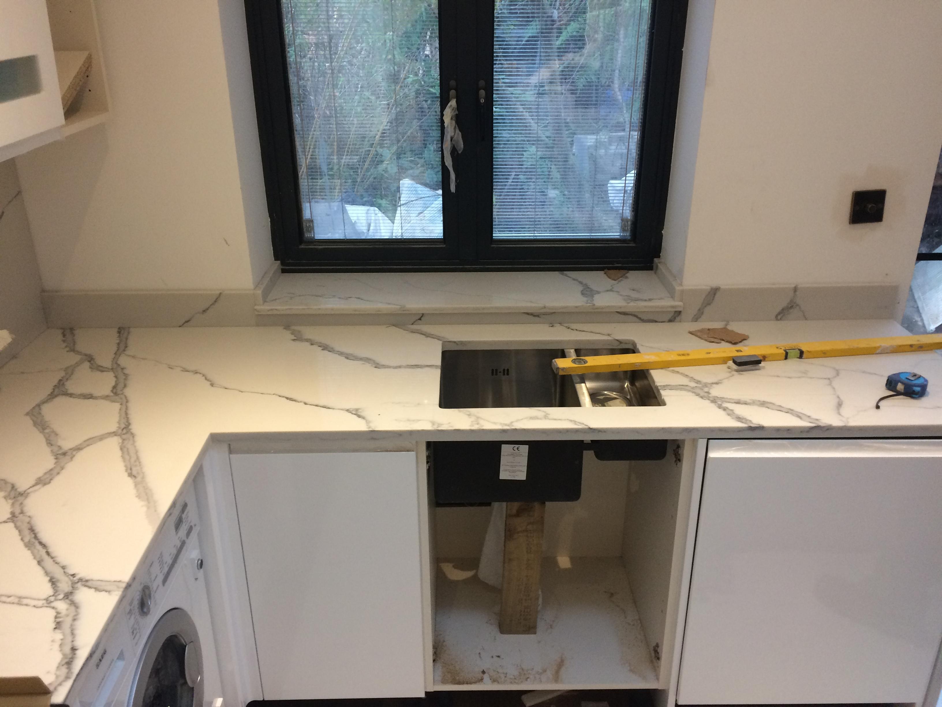 Statuario Quartz Kitchen top (4)