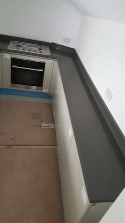 Dark Grey Quartz kitchen top (2)