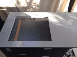 Grey Cement Quartz Kitchen top  (4)