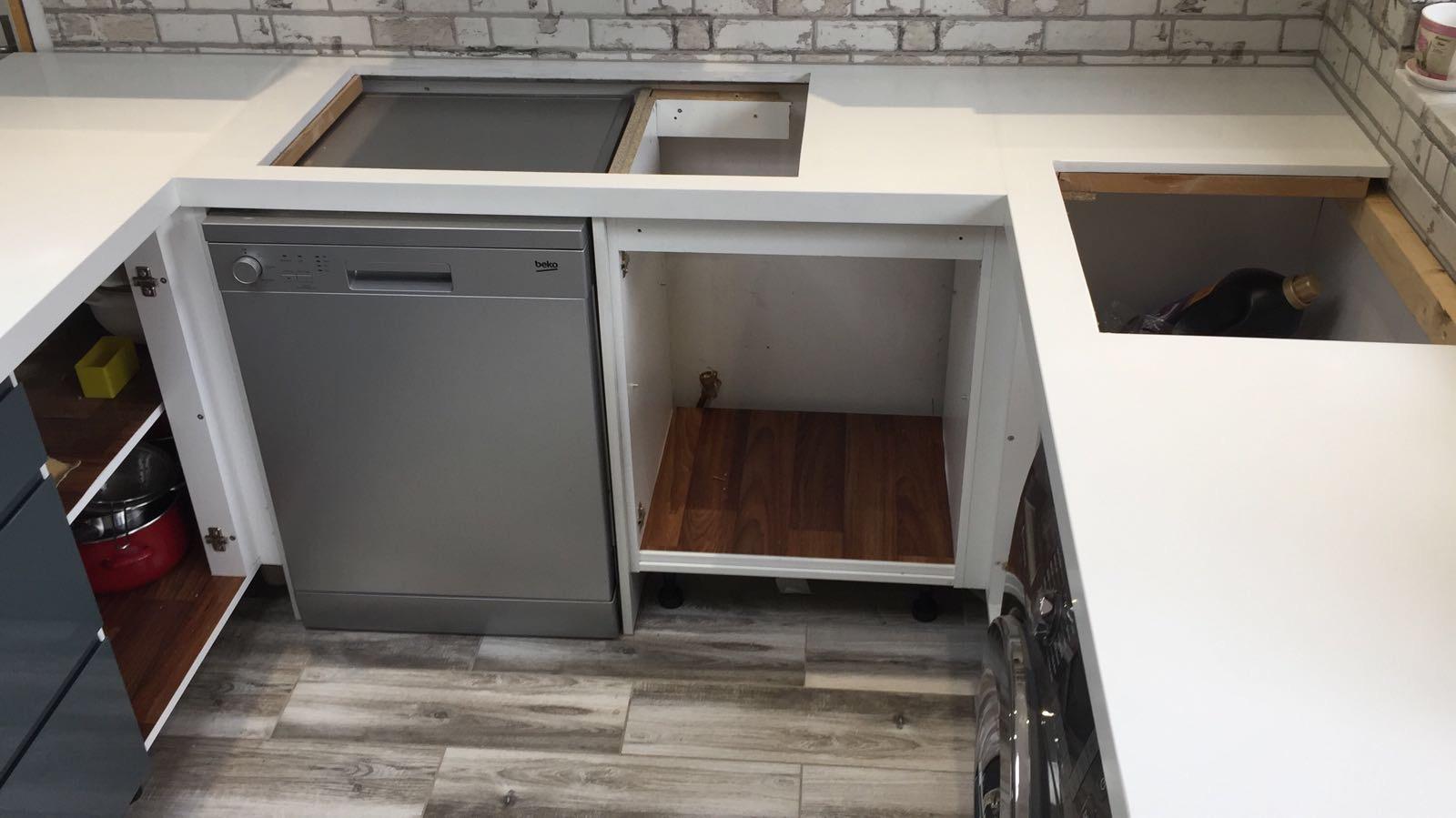 Quartz miterd edge kitchen top (4)