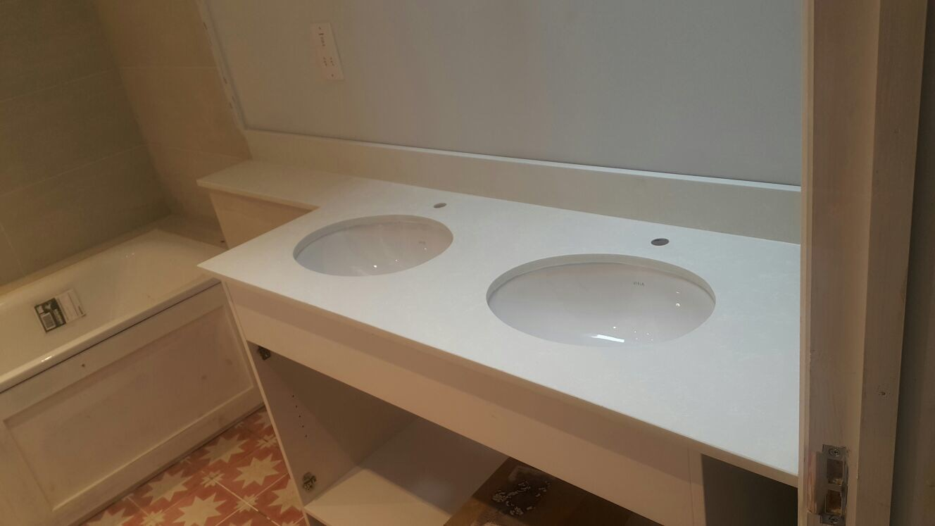 Carrara Quartz Vanity tops  (5)
