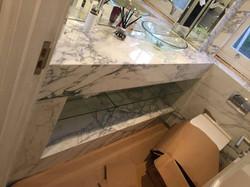 Arabescato mabrle vanity top in bathroom London (5)