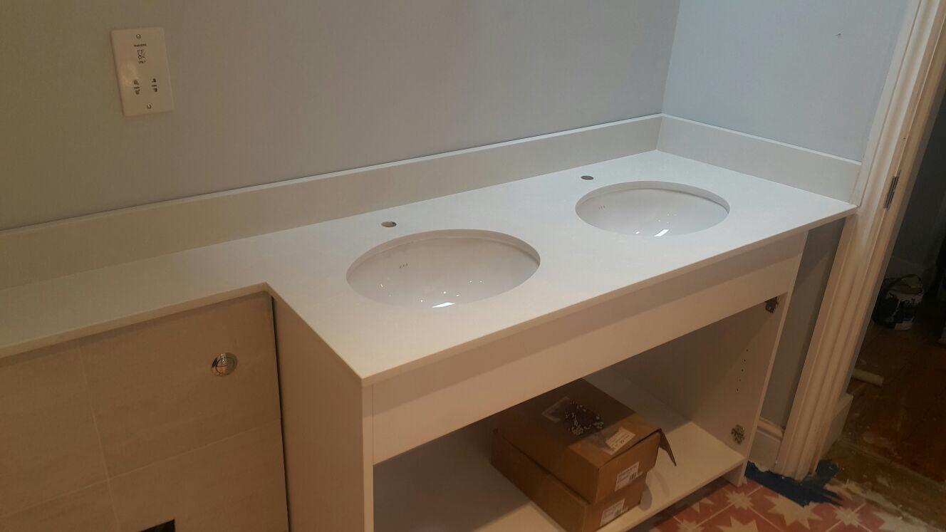 Carrara Quartz Vanity tops  (2)