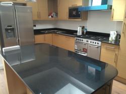 Black Granite kitchen worktop in London (1)