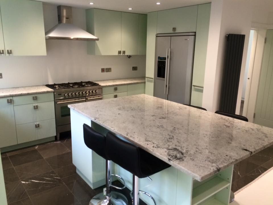 Colonial White Grainte kitchen worktop in London (1)