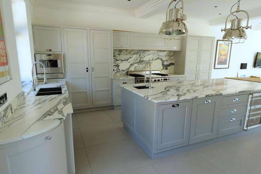 Arabescato marble kitchen worktop London