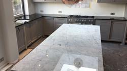 kitchen surfaces combined - Black granite plus Staturio island (9)