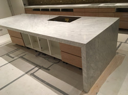Goia leather marble 70mm edge plus side panel and recessed sinkIMG_9781