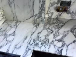 Arabescato marble kitchen worktop in London  (2)