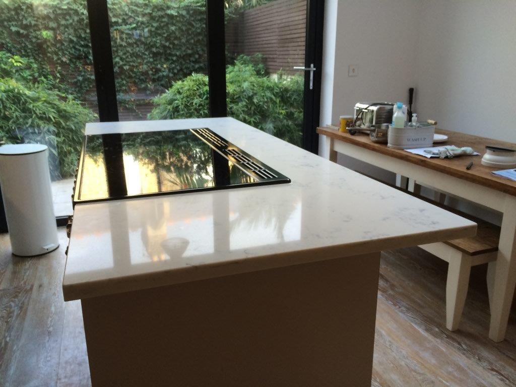 Carrara Quartz Kitchen worktop in London (1)