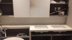 bathroom miterd edge 40mm white weiny quartz  (7)