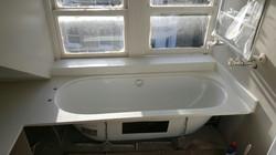 White quartz bathroom panels and vanities  (2)