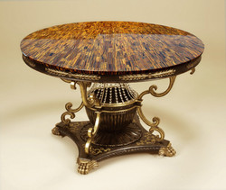 tiger eye gold round table top