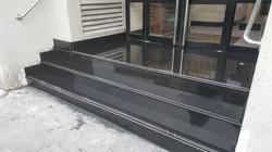Granite black polish steps in the office building (4)