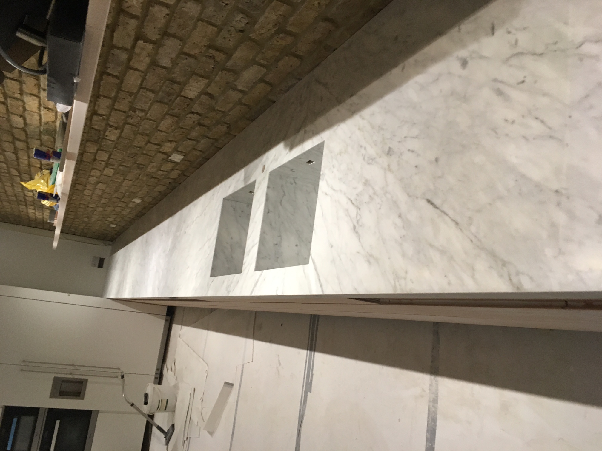 Goia leather marble 70mm edge plus side panel and recessed sinkIMG_9777